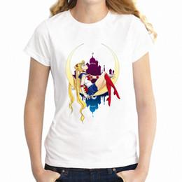 Wholesale cute anime shirts for sale – custom Women s T Shirt Sailor Moon Anime Mars Mercury Cute Girl s Tee
