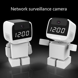 Discount surveillance camera clocks New 1080P Product WiFi Camera Indoor Wireless Remote Network Home Card Electronic Clock Surveillance Camera English and British Regulations