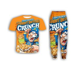 Wholesale food t shirts for sale – custom New Fashion Women Mens Food Crunch Berries Funny d Print T Shirt Jogger Pants Casusal Tracksuit Sets ZS18