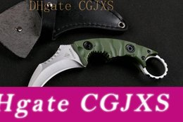 top karambit knife Australia - Promotion Top Quality New Claw Karambit Knife G10 Handle Fixed Blade Knife Outdoor Gear Hunting Knife Camping Knives Leather Sheath