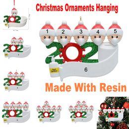 Ingrosso 2020 Quarantine Natale Compleanni festa di nozze regalo personalizzato decorazione appesa ornamento Pandemic -Social allontanamento-Famiglia di 2