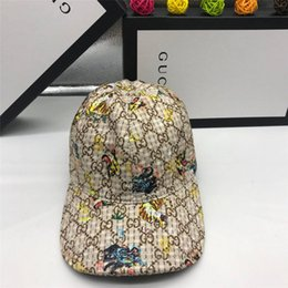 caps children baseball UK - 2020new YYSpring graffiti printing baseball cap Child parent hat Long tail hip-hop hat Wholesale cap