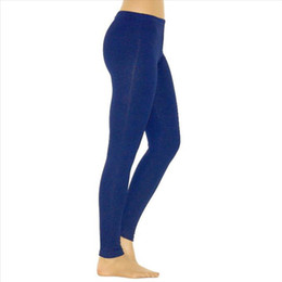 Womens Leggings ultra molle vita bassa Skinny inverno Leggings vita bassa Xl Borgogna Figura intera Solid Leopard Royal Blue Legging