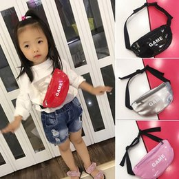 bright handbag 2021 - Bright Leather Waist Bag New arrival Children Chest Handbag Unisex Letter Fanny Pack Kids Waist Pack Belly Bags Toy Pouc