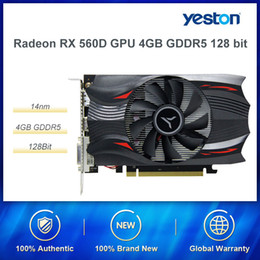 bit express UK - Yeston RX560D-4G D5 Extreme Speed Edition Dedicated Graphics Card 1176 6000MHz 4G 128bit GDDR5 For Gaming Desktop Computer PUBG