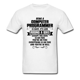 clothing sayings NZ - Life Of A Computer Programmer T Shirt Men Cotton T-shirt Black White Clothing Funny Saying Tops Rider Workout Tshirt