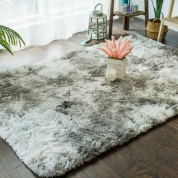 Fluffy Bedroom Table Carpet For Living Room Sofa Couch Rugs Tatami Mat Shaggy Plush Foot Mattress Canap Seat Pad 9FG7#