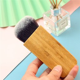 loose brush makeup NZ - High Quality Blending Powder brush Bamboo Loose Powder Shading Blusher Contour soft Synthetic hair Makeup brush 1pcs