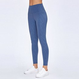 yoga crop pants UK - lu -20 Solid Color Naked Feeling Yoga leggings Skinny High Waist Bodybuilding Pants Run Motion Nine Pants Woman cropped leggings rMHF#