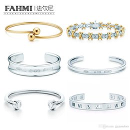 silver bracelet bells Australia - FAHMI 100% 925 Sterling Silver Original Authentic Classic Wreath Bell Roman Numerals Exquisite Wedding Women Bracelet Jewelry Free Shipping