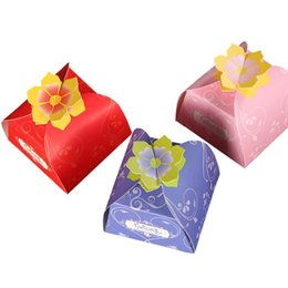 return gift for wedding wholesale Australia - Flower Cookit Event European Candy Box Gift Party Wedding For Case Decor Chocolate 5pcs set Return Packaging Box Guests Bachelor CE2007 uCS