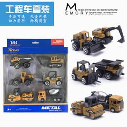 Wholesale excavator for sale – custom 1 Alloy Engineering Vehicle Excavator Forklift Model Cars Set Collections Gift For Children Kids Ornaments Car model