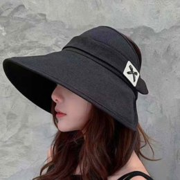 hats sun protection face cover UK - kndTy Women's Korean hatwomen's hat style-ins style fashion all-match outdoor sun protection large eaves cover face layer cloth empty top s