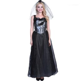 Wholesale bride costumes for sale – halloween Fashion Style Casual Apparel Black Wedding Bride Womens Festival Designer Halloween Cosplay Theme Costume Female Clothing