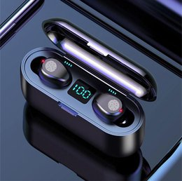 f9 UK - F9 Tws Wireless Earphones Digital Led Display Bluetooth V5 .0 Earbuds Touch Control Headphone With 2000mah Power Bank Headset Dhl Ship