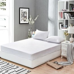 Smooth Waterproof Mattress Protector Cover for Bed Solid White Wetting Breathable Hypoallergenic Protection Pad Cover Mattress Pad on Sale