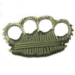 finger knuckle self defense Canada - Finger Buckle Self-defense Emergency Escape Tool In-car Emergency Window Breaker China Dragon Four Finger Knuckles with rope