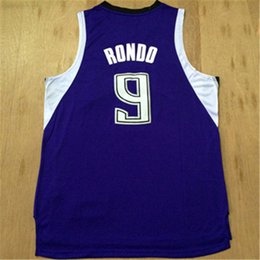 jersey basketball best UK - 2015-2016 top #9 Rajon Rondo New Material Basketball jersey and shorts,Best quality Suture Logos Size S-XXL Mix Order College