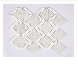 2020 hot sale Natural stone crystal white diamond natural marble mosaic TV background wall tile interior wall tile A02 on Sale