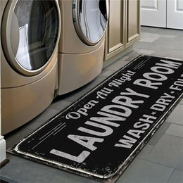 Wholesale print services for sale – custom Non Slip Floor Mat Laundry Room Mat Entrance Doormat Self Service Laundry Bath Mat Carpet Laundry Room Decor Balcony Rug