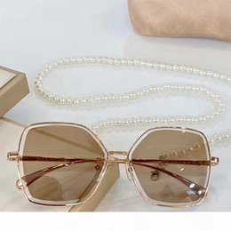 sunglasses golden chain Australia - Designer Sunglasses pearl chain necklace gafa de sol 4262 women luxury designer sunglasses New with Box