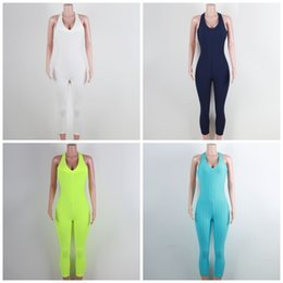yoga pants jumpsuits UK - Sports Fitness Yoga Rompers Sleeveless Female One Pieces Clothing Honeycomb Pattern Skinny Jumpsuits For Female Clothes 39mg E19