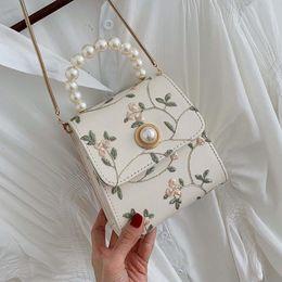 Pearl Leather Crossbody Bags for Women Handbags Female Small Ladies Hand Sling Tote Shoulder Messenger Bag