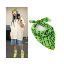 Wholesale middle eastern scarves for sale - Group buy vfK6M Eilish same hip hop rock necklace brooch Billie scarf towel square towelEilish same square towel Billie hip hop rock scarf necklace b