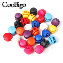 toggle cord stoppers Australia - Paracord 20pcs Assorted Color Stopper 2 Holes Cord Lock Toggle Clip Outdoor Paracord Shoelace Kids Toy Buckles Bag Sewing Craft 16.5mm