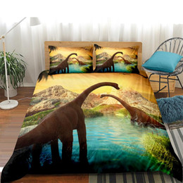 quilts for twin size beds Australia - Dinosaur Bedding Set For Kids Dinosaur Duvet Cover Quilt Sets Single Bed Queen Size Full NO Sheets Decoration Bedroom Cartoon 3D