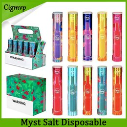 Wholesale free drawings resale online - Original Myst salt Disposable Device mAh Battery Colors Draw Activated Firing PK AIR BAR Shipping Free