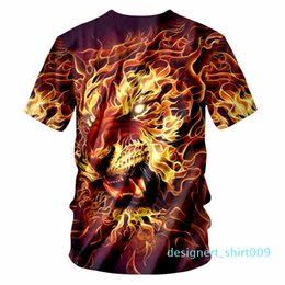 OGKB tee shirt Homme moda o collo 3D T shirt stampate Re Leone Hip Hop 6XL Habiliment Homme Primavera Tee Shirt d09 Whosale