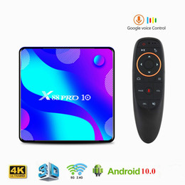 tv box media player 3d 2020 - X88 PRO 10 Android 10 Smart TV Box 4GB 64GB RK3318 Quad Core 4K HD 2.4G 5Ghz Dual Band Wifi 3D Media Player Set Top Box