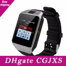 electronics usa Australia - Original Dz09 100 %Smart Watch Bluetooth Electronics Sim Card For Camera Android Phone Wearable Devices Dropshiping Dropship Service To Usa