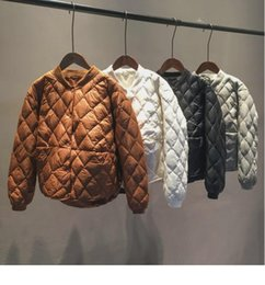 Wholesale quilted jackets resale online - Obrix Casual Style Trendy Female Quilted Jacket Spring Autumn Solid Color Single Breasted Short Loose Jacket For Women