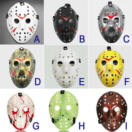 jason hockey mask UK - Jason Mask 9 colors Full Face Antique Killer Mask Jason vs Friday The 13th Prop Horror Hockey Halloween Costume Cosplay Mask