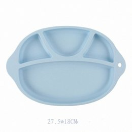 silicone plates bowls NZ - Baby Safe Silicone Dining Plate BPA Free Solid Children Dishes Suction Toddle Training Tableware Cute Cartoon Kids Feeding Bowls RRA28 iVac#