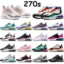 Wholesale medium arts for sale - Group buy 270s React mens running shoes sports trainers bauhaus geometric art phantom multi color blue void winter triple black cactus jack trainers