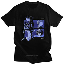 Novelty Death Note Shinigami Ryuk Tshirt Men Short Sleeve Japanese Manga Light Yagami L T-shirt Cotton Anime Tee Gift