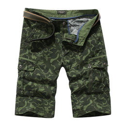 Wholesale wear camouflage online – oversize Mens Casual Shorts Cargo Shorts Casual Style Summer Wear Mens Shorts Multi Pockets Camouflage Bib Overall