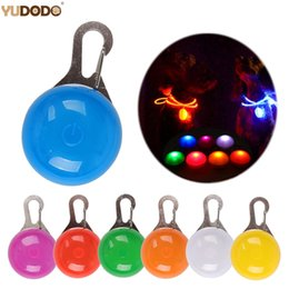night glowing plastic UK - Night Safety Dog Collar Glowing Pendant LED Flash Lights Pet Leads Accessories Glow In The Dark Bright Necklace Dog Collar