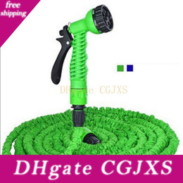 magic hoses UK - Hot 3x Expandable Magic Garden Hose 125ft Water Pipe Drip Irrigation Supplies Water Hose Car Watering Connector With 7 Modes Spray Gun