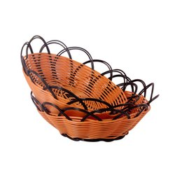 plastic vegetable storage Australia - Weave Magazine Fruit Vegetable Rack Storage Basket Household Decor Desktop Storage Basket Candy Storage Basket Plastic