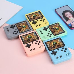video games consoles Canada - Gift Handheld Macaron Game Console Retro Video Game player Can Store 500 400 in1 Games 8 Bit 3.0 Inch Colorful LCD Cradle