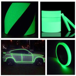 tape glow NZ - Luminous Tape Self Adhesive Glow In The Dark Wall Fluorescent Tape Fluorescent Emergency Sticker