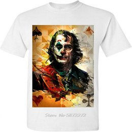 Wholesale new movies posters for sale – custom New Joker Poster Joaquin Phoenix Movie Tv White T Shirt Summer Men Funny O Neck Tshirt Vintage Tee Shirt