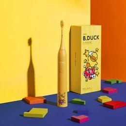Großhandel B.DuckMOLE nachladbare elektrische Zahnbürste Schallzahnbürste 5 Modus Adult Timer IPX7 Wasserdicht Automatische Ultraschall-Bürste