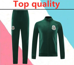 Wholesale football team suit resale online – TOP Quality Mexico soccer training suit hoodie jacket set CHICHARITO national team Football Maillot de foot training suit