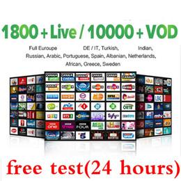1 an d'abonnement aux programmes de télévision Europe Les programmes pour la boîte de télévision Android M3U