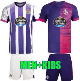 Wholesale food t shirts for sale – custom Thailand Real Valladolid Soccer Jerseys Fede S Sergi Guardiola Oscar Plana Food Shirts Men Kids football t Shirts